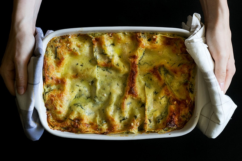 "This creamy and cheesy pesto lasagna will blow your mind. You will be screaming ""Mamma mia"" after tasting it! #pesto #italy #lasagna 