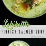 Finnish salmon soup pinterest pin