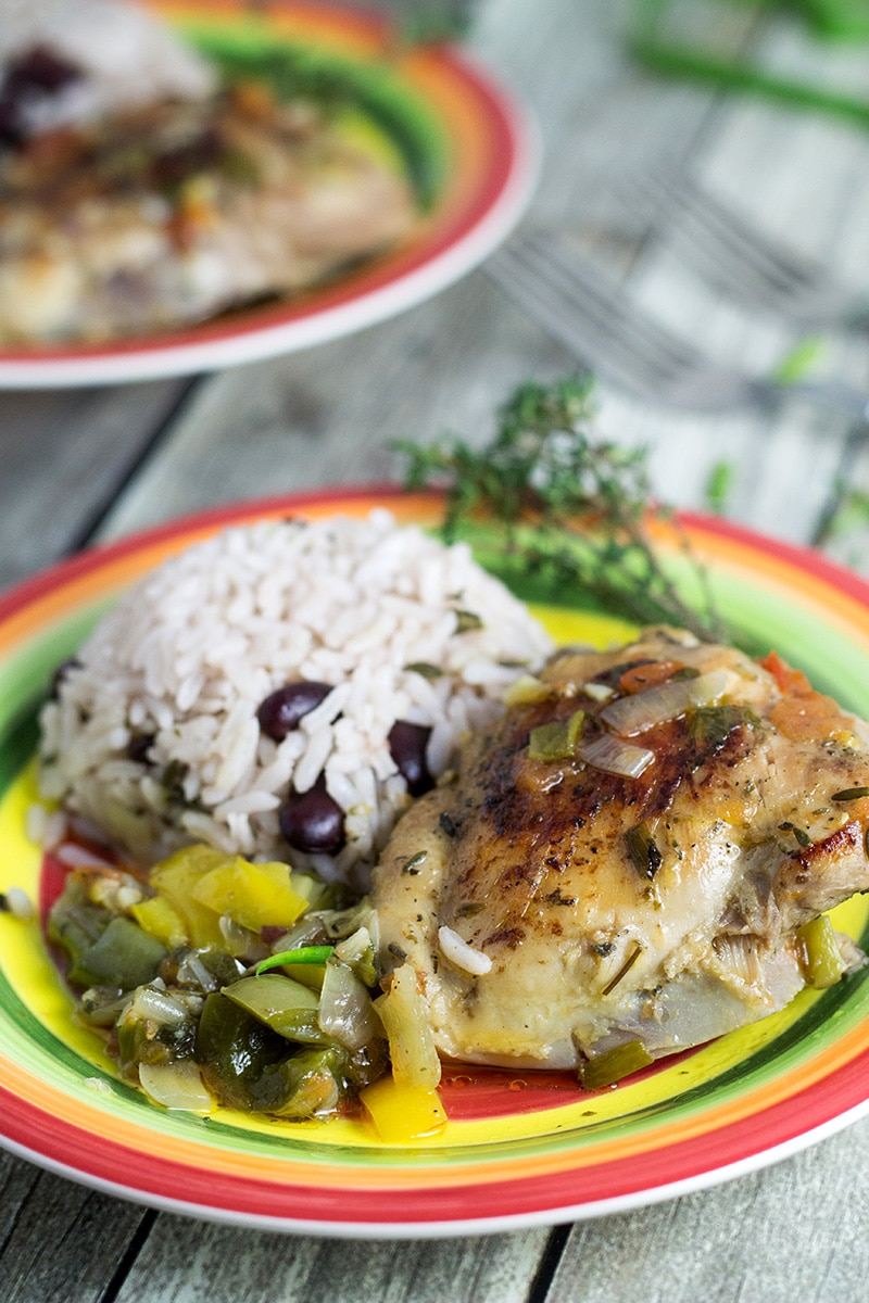 This Jamaican Brown Stew Chicken will bring the Caribbean to your home!   cookingtheglobe.com