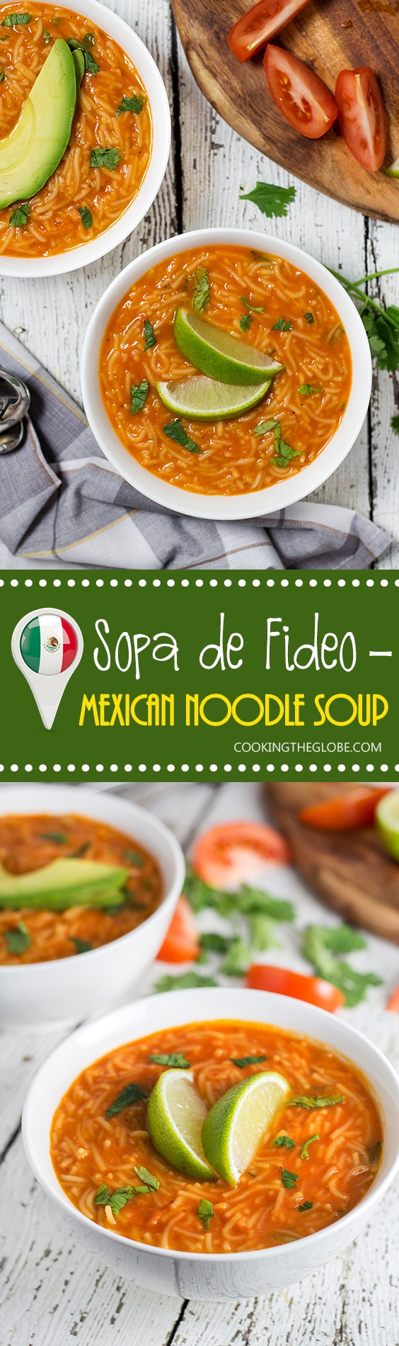 This hearty and comforting Mexican tomato noodle soup, called Sopa de Fideo, is a true feast of flavors!