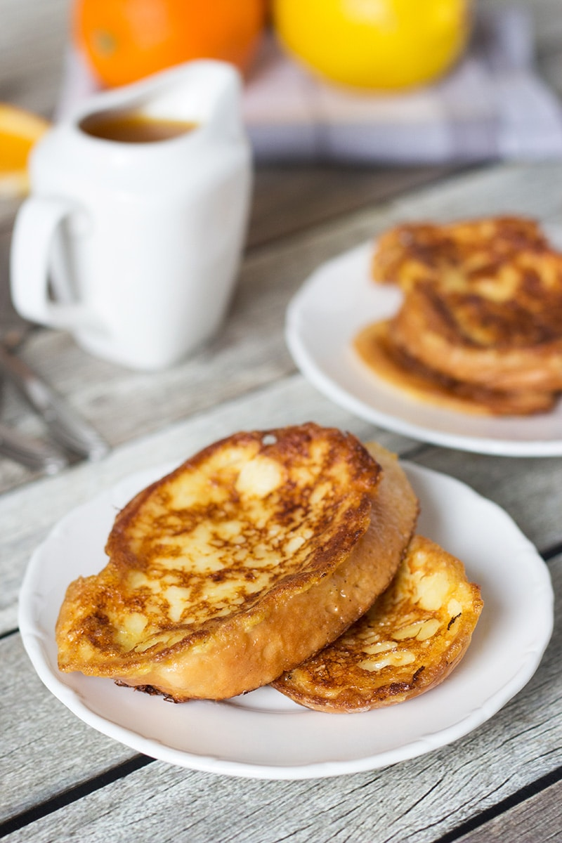 These sweet Spanish toasts, called Torrijas, are soaked in milk and drizzled with an orange-brandy syrup!   cookingtheglobe.com