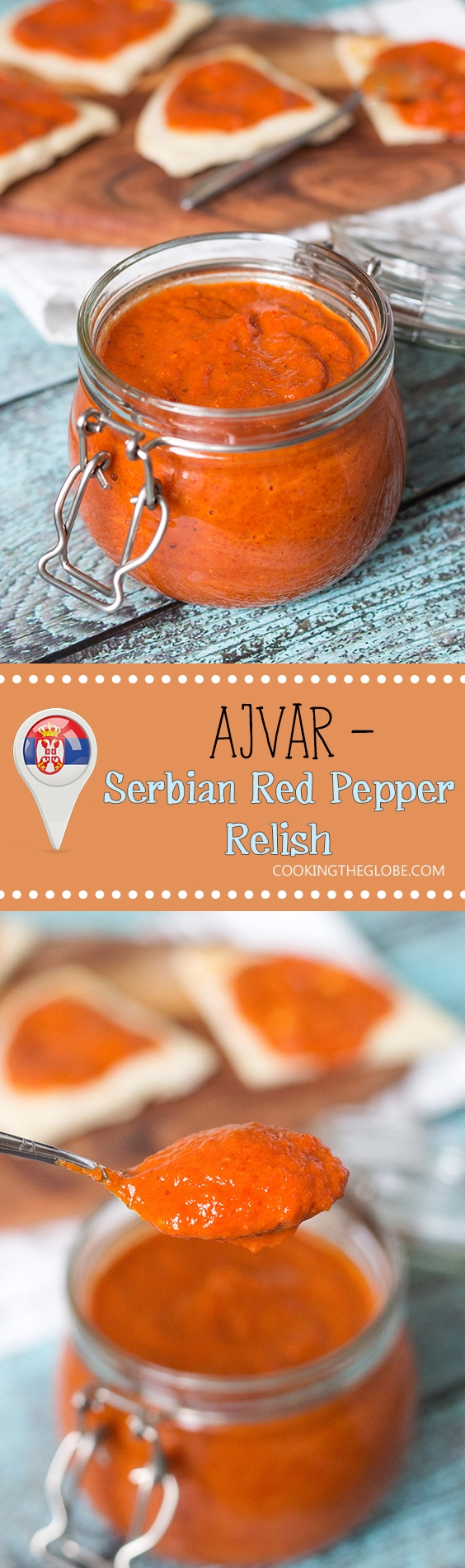 This Serbian eggplant and red pepper relish, called Ajvar, goes great with meat, as a sauce on pasta or just slathered on bread!