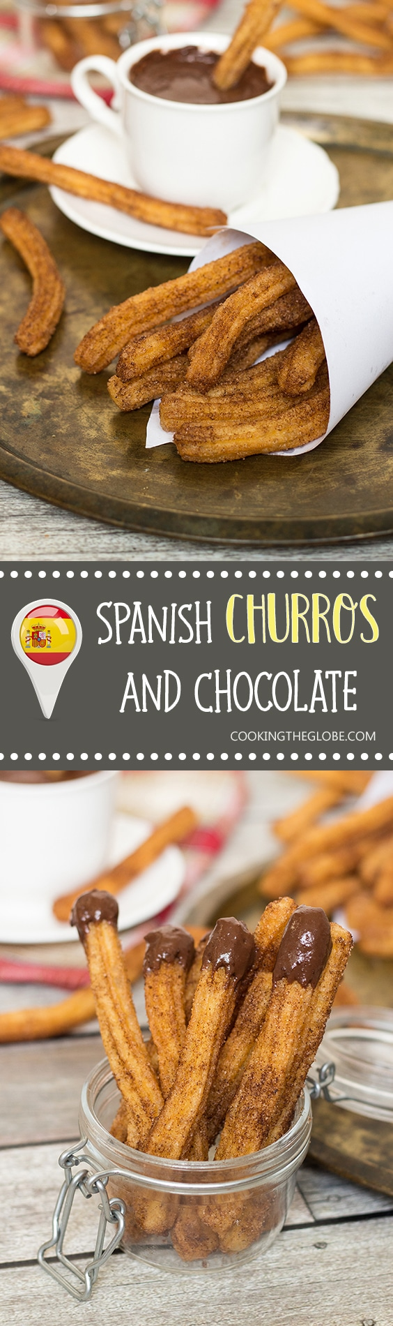These Churros Con Chocolate are undeniable Spanish breakfast favorites. I can understand why!