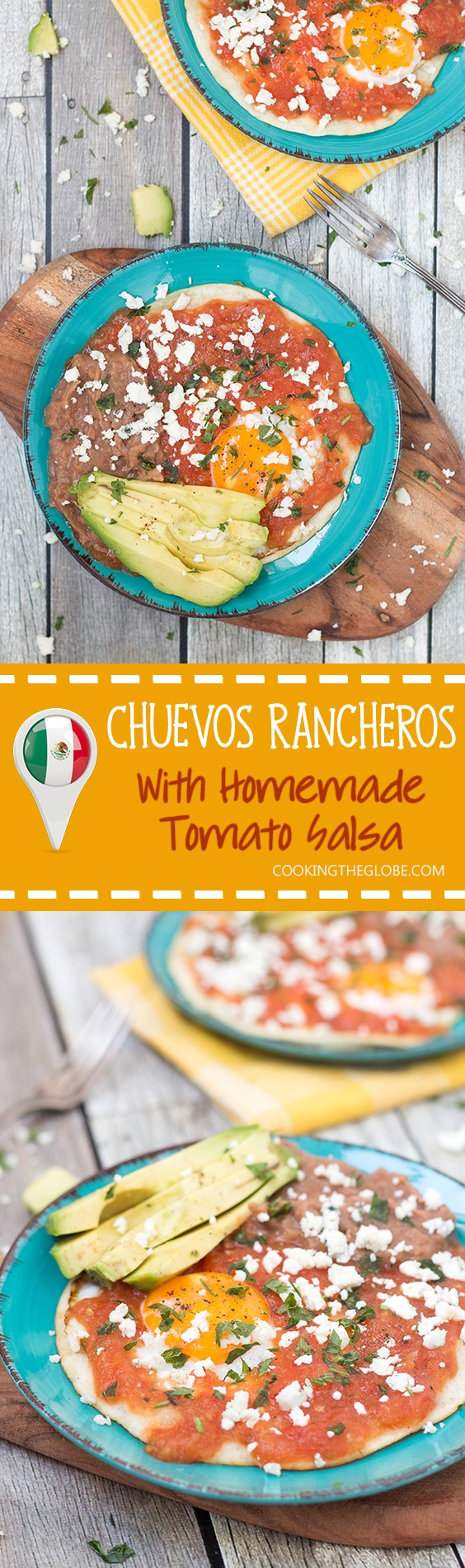 There is nothing better than Mexican traditional Huevos Rancheros in the morning. Try this easy and delicious recipe with homemade salsa!