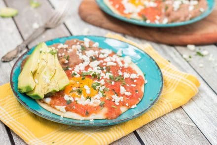 There is nothing better than Mexican traditional Huevas Rancheros in the morning. Try this easy and delicious recipe with homemade salsa!