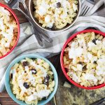 This Filipino Macaroni Salad is not the one you are used to. It features pineapple, raisins, and condensed milk. Mildly sweet, creamy, comforting - you'll love it! | cookingtheglobe.com