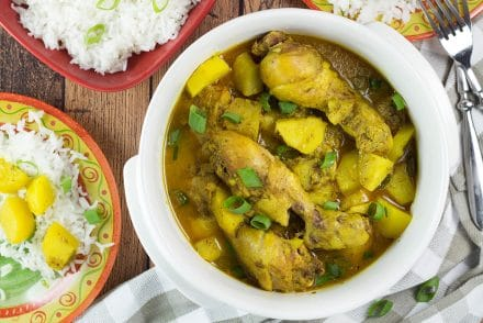 If you love Caribbean cuisine, this Jamaican Curry Chicken will make your taste buds tingle. It's spicy, it's comforting, it's everything you want a dish to be. Yum!   cookingtheglobe.com