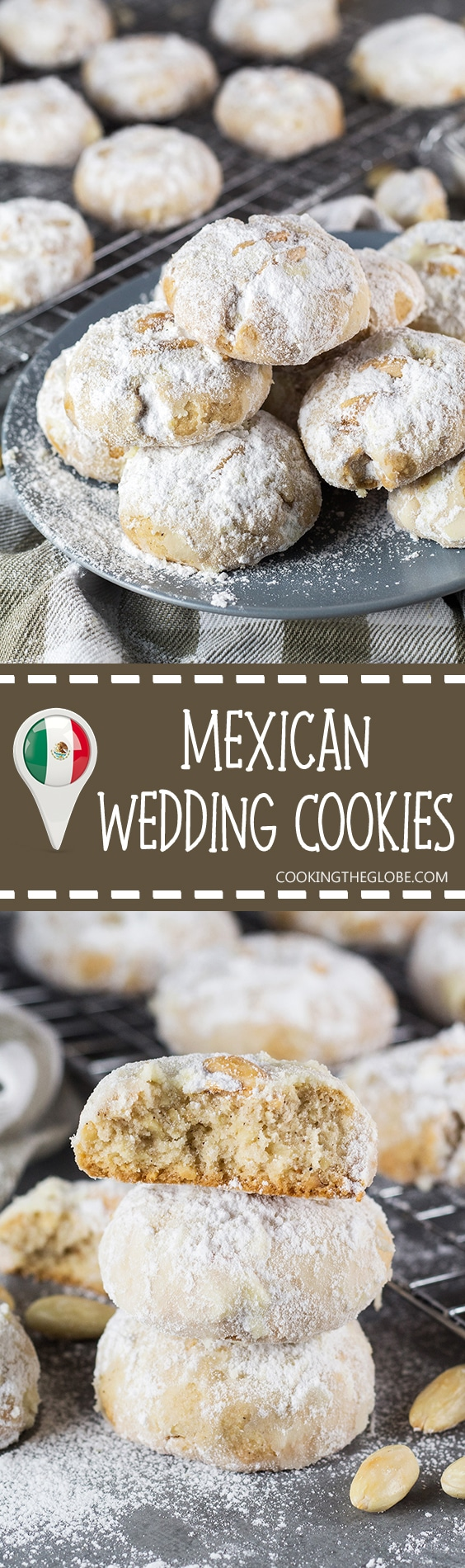 These Mexican Wedding Cookies are buttery, crumbly, nutty, and topped ...