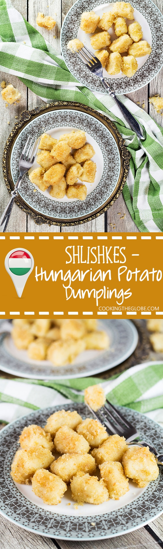 Shlishkes, or Hungarian Potato Dumplings, is a perfect side dish for everyone. These little guys are made with mashed potatoes and covered in buttered bread crumbs! | cookingtheglobe.com