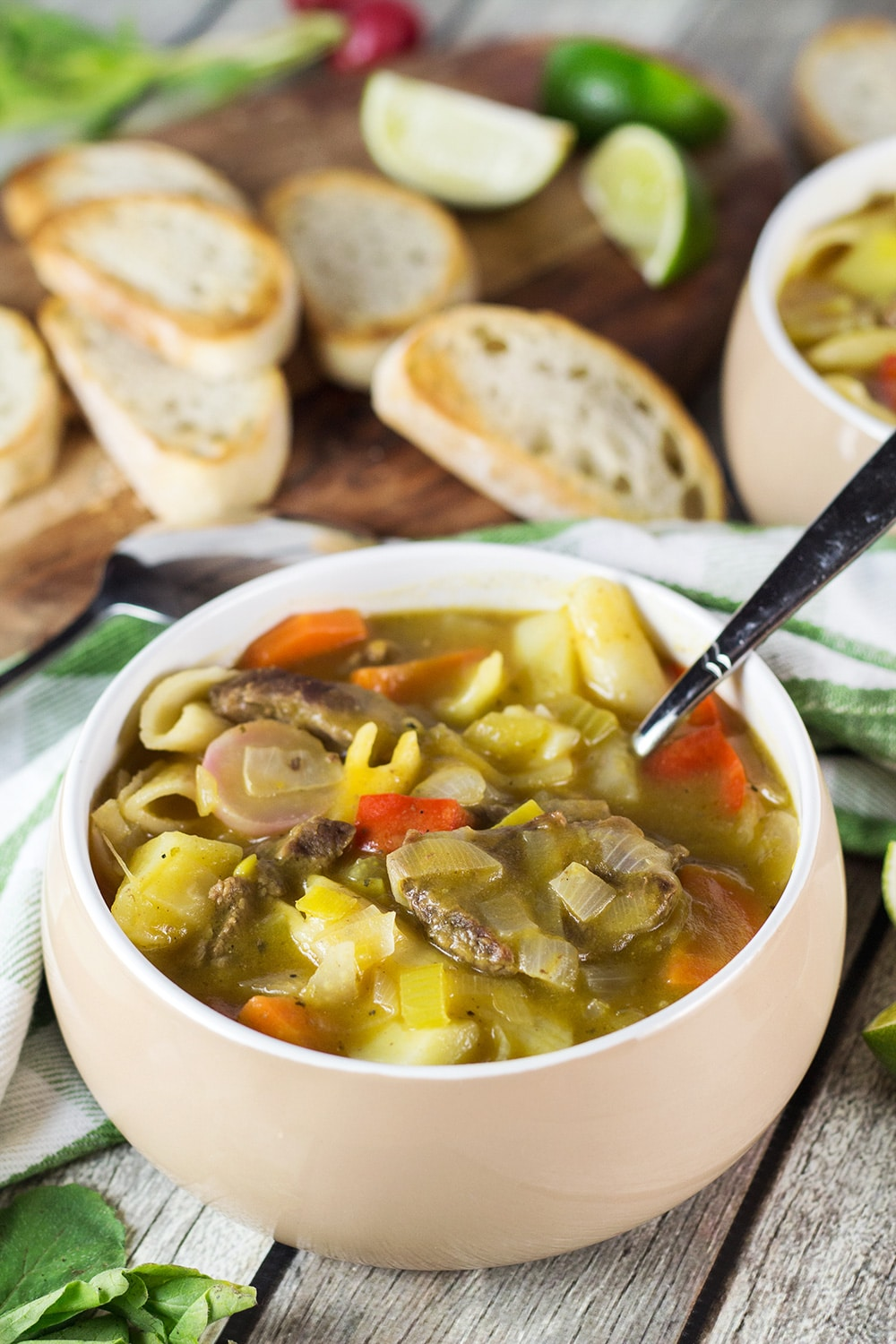 Soup Joumou is a traditional Haitian pumpkin soup packed with 11 different veggies, beef, and pasta. Hearty, comforting, and crazy delicious!   cookingtheglobe.com