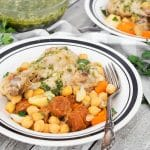 Cocido is one of the most iconic Spanish dishes. While this stew can be made numerous ways, my version features chicken, chorizo, chickpeas, and a bunch of veggies!   cookingtheglobe.com