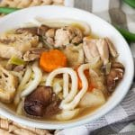 Chanko Nabe is a filling stew usually eaten by sumo wrestlers in Japan. Cooked in a flavorful broth and packed with protein and veggies, it's super healthy and comforting! | cookingtheglobe.com
