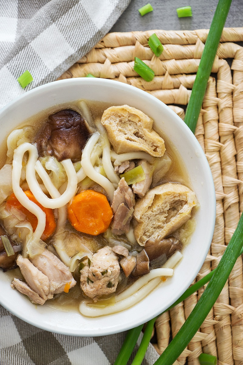 Chanko Nabe is a filling stew usually eaten by sumo wrestlers in Japan. Cooked in a flavorful broth and packed with protein and veggies, it's super healthy and comforting!   cookingtheglobe.com