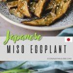 Miso eggplant pinterest pin