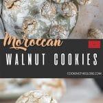 Moroccan walnut cookies pinterest pin