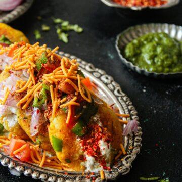 Yummy Aloo Tikki Chaat ready to enjoy