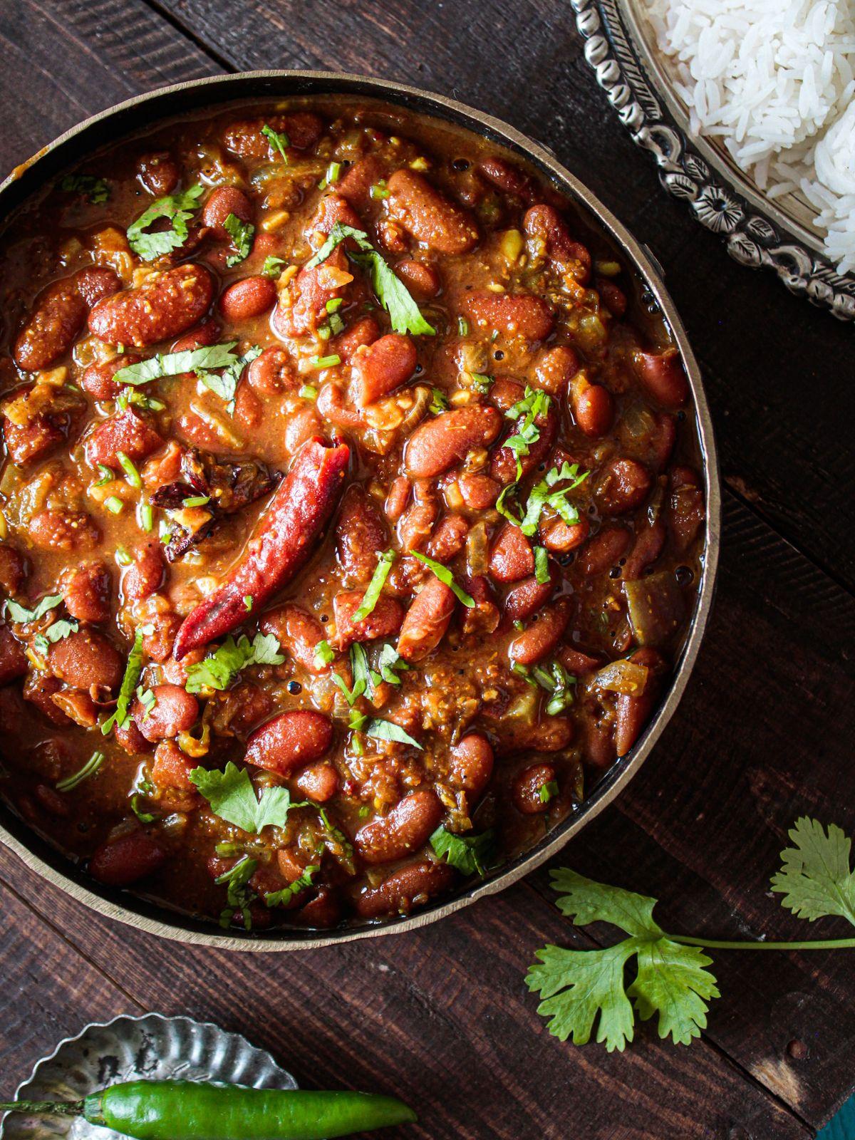 Ready to Eat Rajma Masala with rice