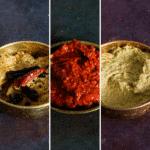 3 variants of chutney